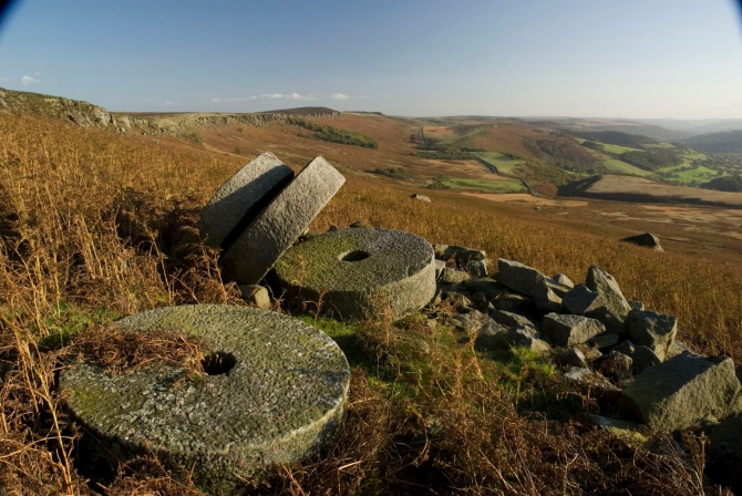 Millstones under Stanage Edge