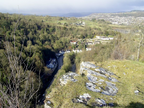 View from top of High Tor, Matlock Bath