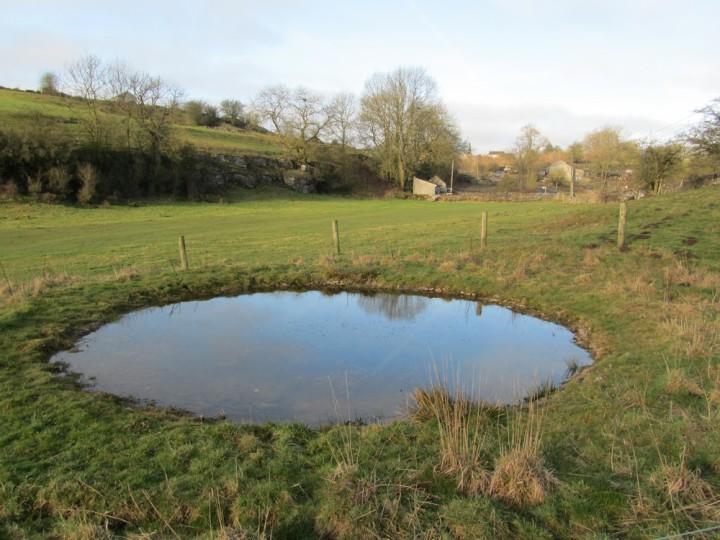 Dew pond in Lathkill Dale