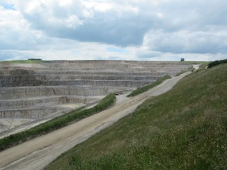 The quarry that supplies limestone to the cement works