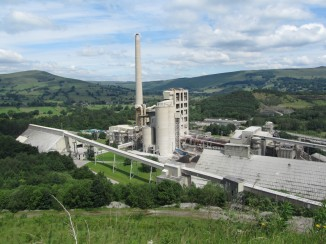 The Lafarge Cement Works at Hope