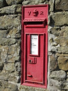 Victorian Post Box.  Hollinsclough