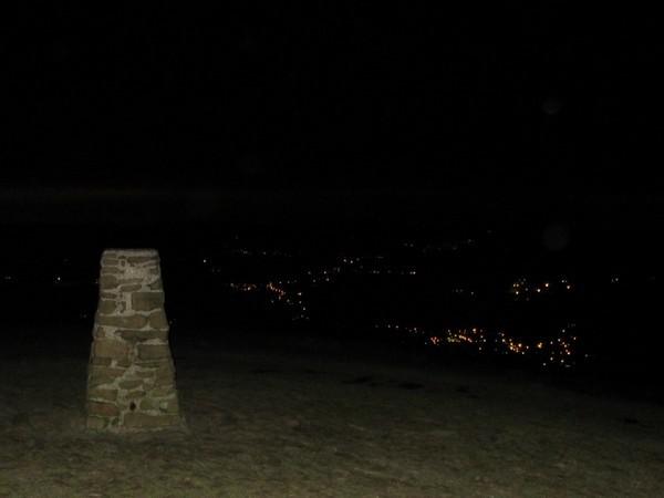 Summit of Mam Tor at night