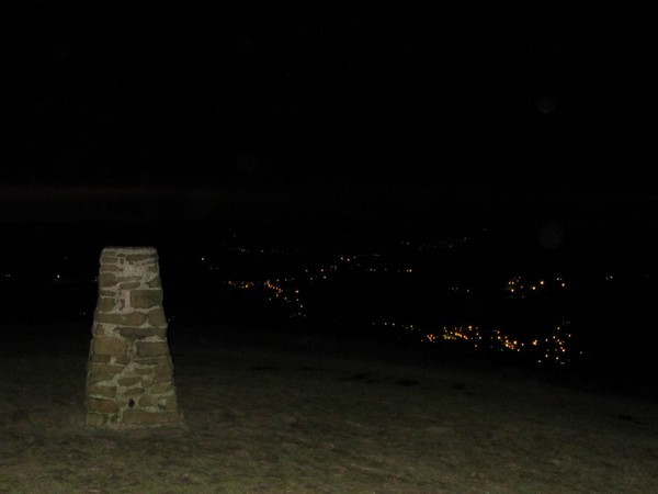 Summit of Mam Tor at night