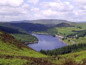Ladybower Reservoir from Bamford Moor