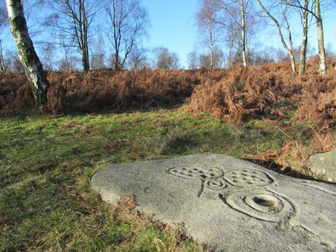 Rock art near Gardoms Edge