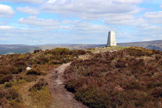 Harry Hut Trig Point, Chunal Moor